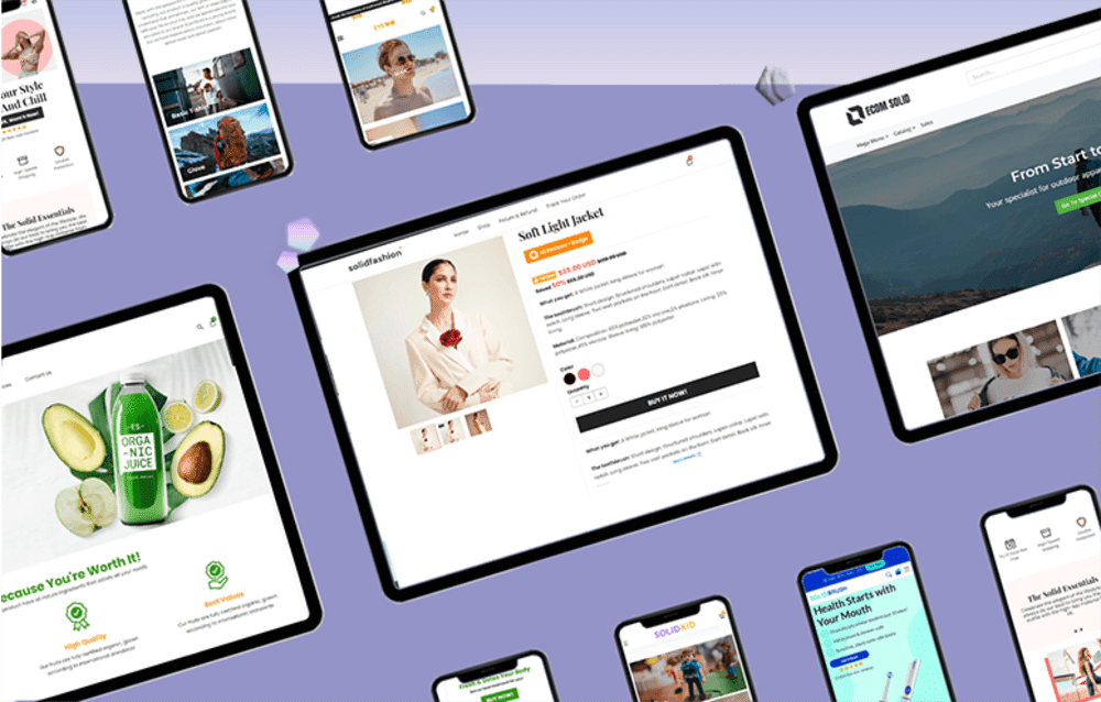 Choose a template for Shopify theme