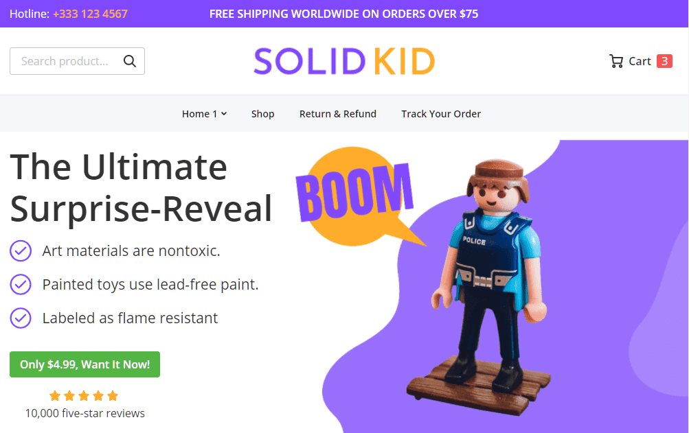 Solid Kid theme template